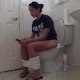 A pretty Hispanic girl records herself shitting while sitting on a toilet and then wipes her ass in 2 scenes. Audible pooping sounds. Product is shown both times. Presented in 720P HD. Over 9 minutes.